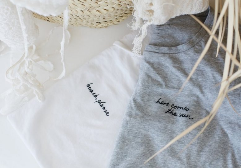 Diy word embroidery shirts