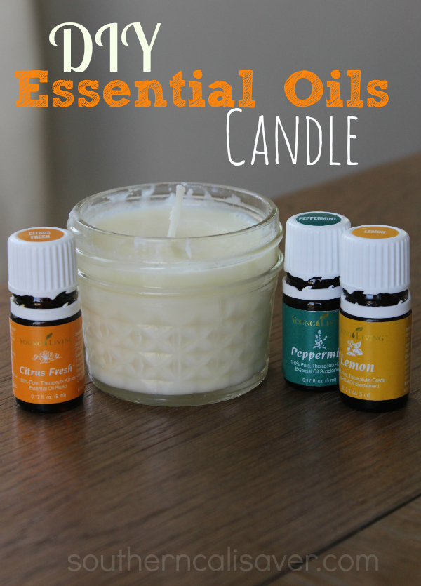 Essential oils candle