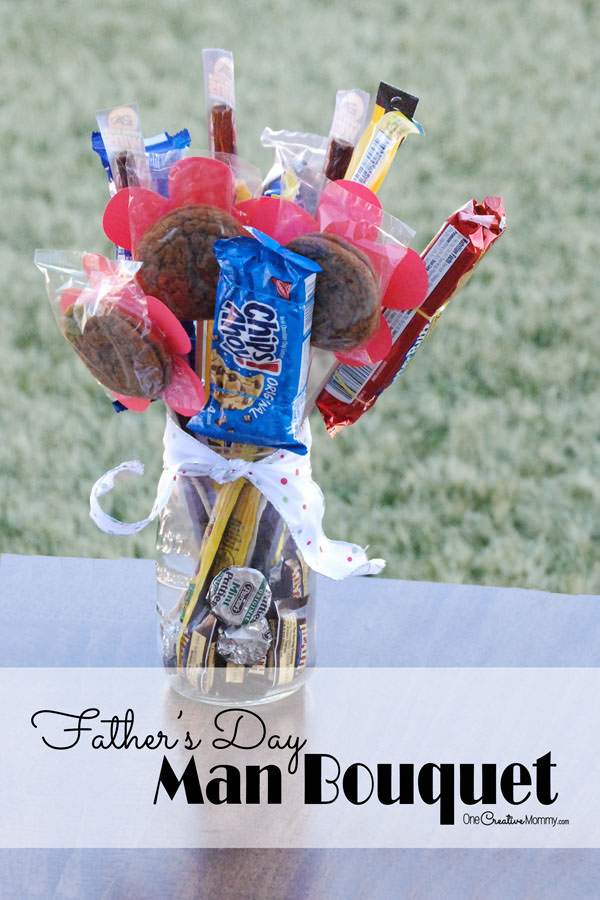 Fathers day gift candy bouquet