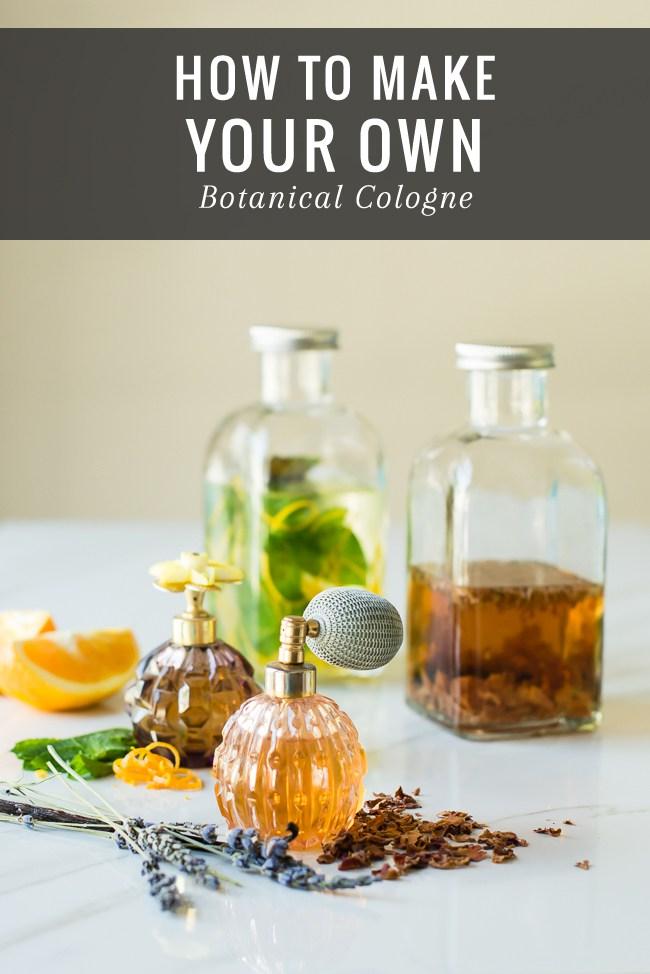 Floral and citrust mint cologne