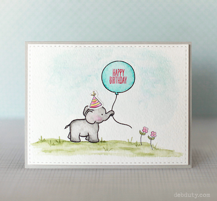 Happy birthday elephant card diy