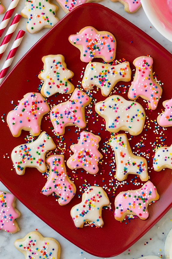 Homemade circus animal cookies