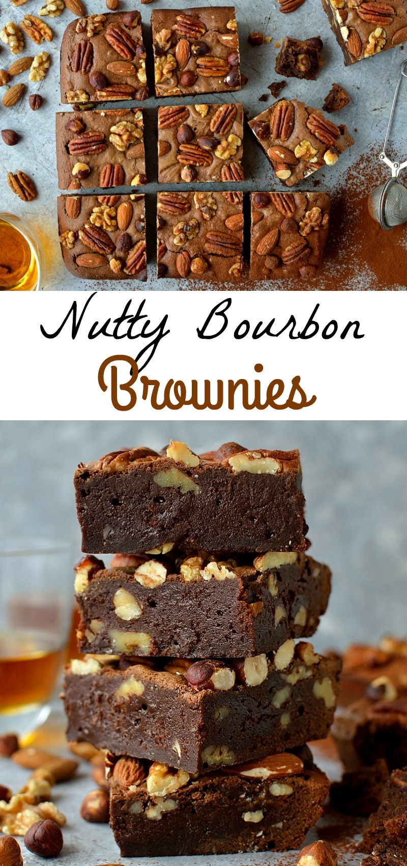 Nutty bourbon brownies pinterest