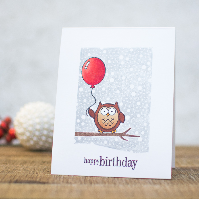 Owl birthday card diy