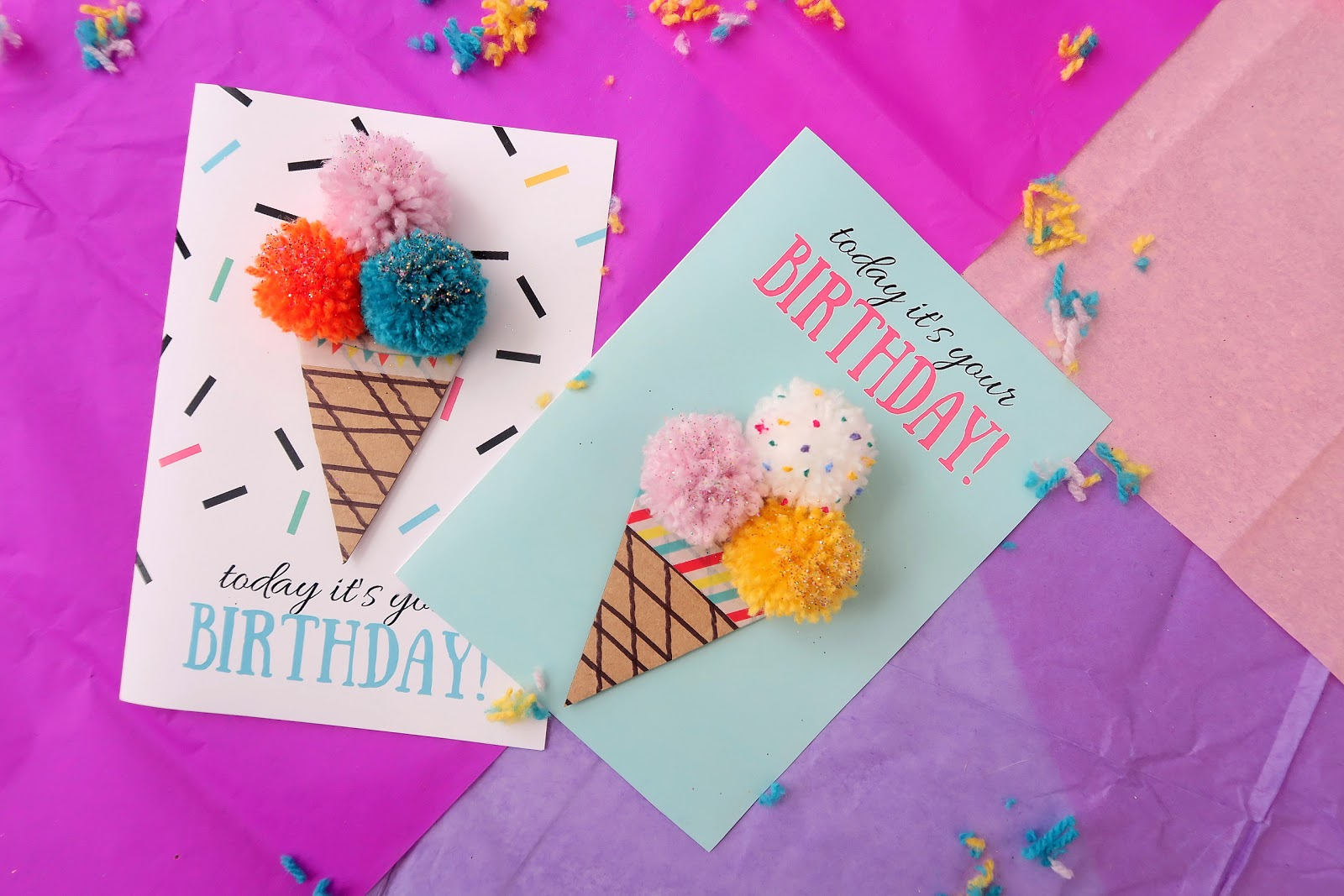 Pom Ice Cream Birthday Card