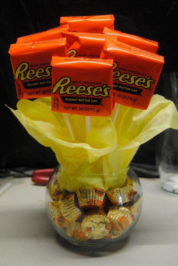 Reeses candy bouquet diy