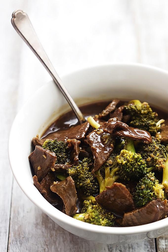 Slow cooker beef broccoli