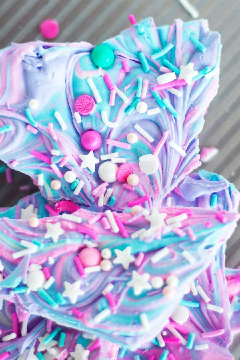 Sprinkle explosion unicorn bark