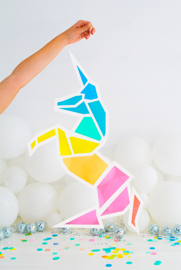 Stained glass unicorn diy