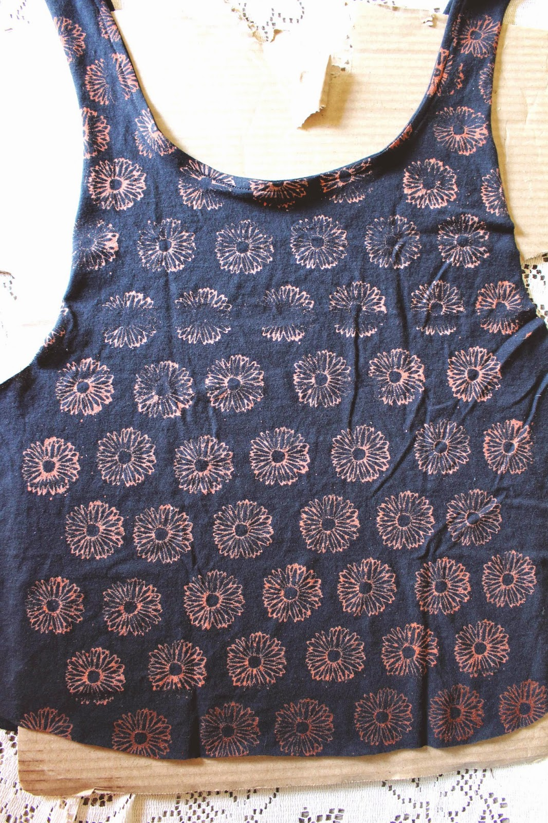 Stamped tshirt diy