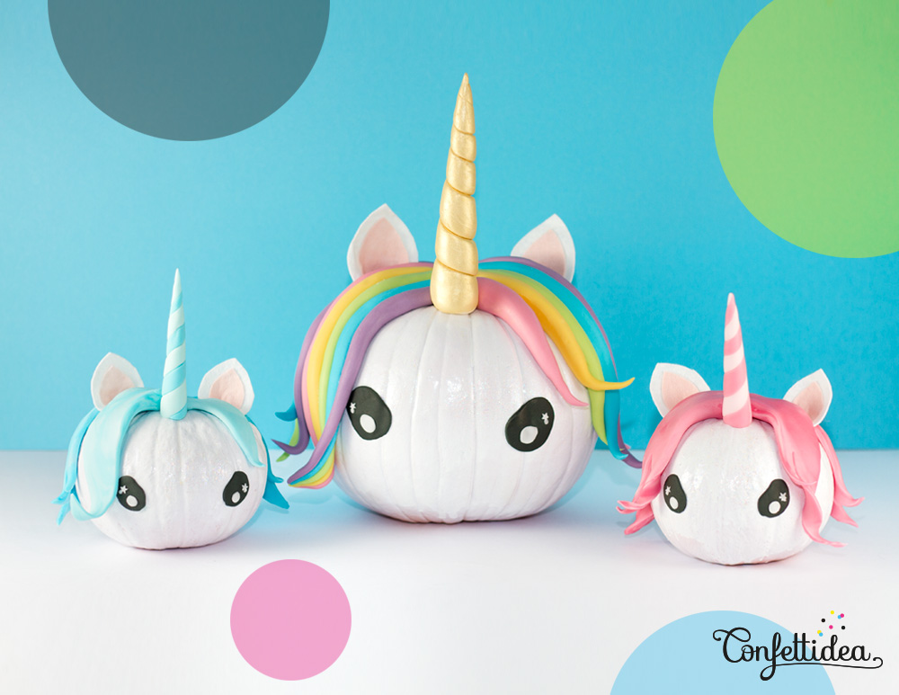 50 magical unicorn diys that inspire every part of your life - Calabazas decoradas para halloween ...