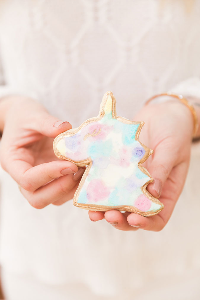 Unicorn marble cookies