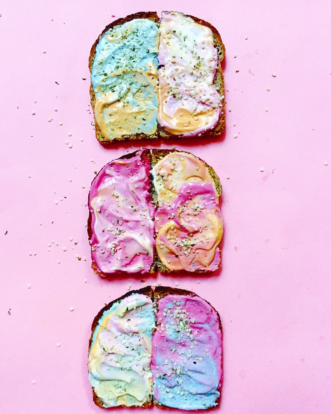 Unicorn toast