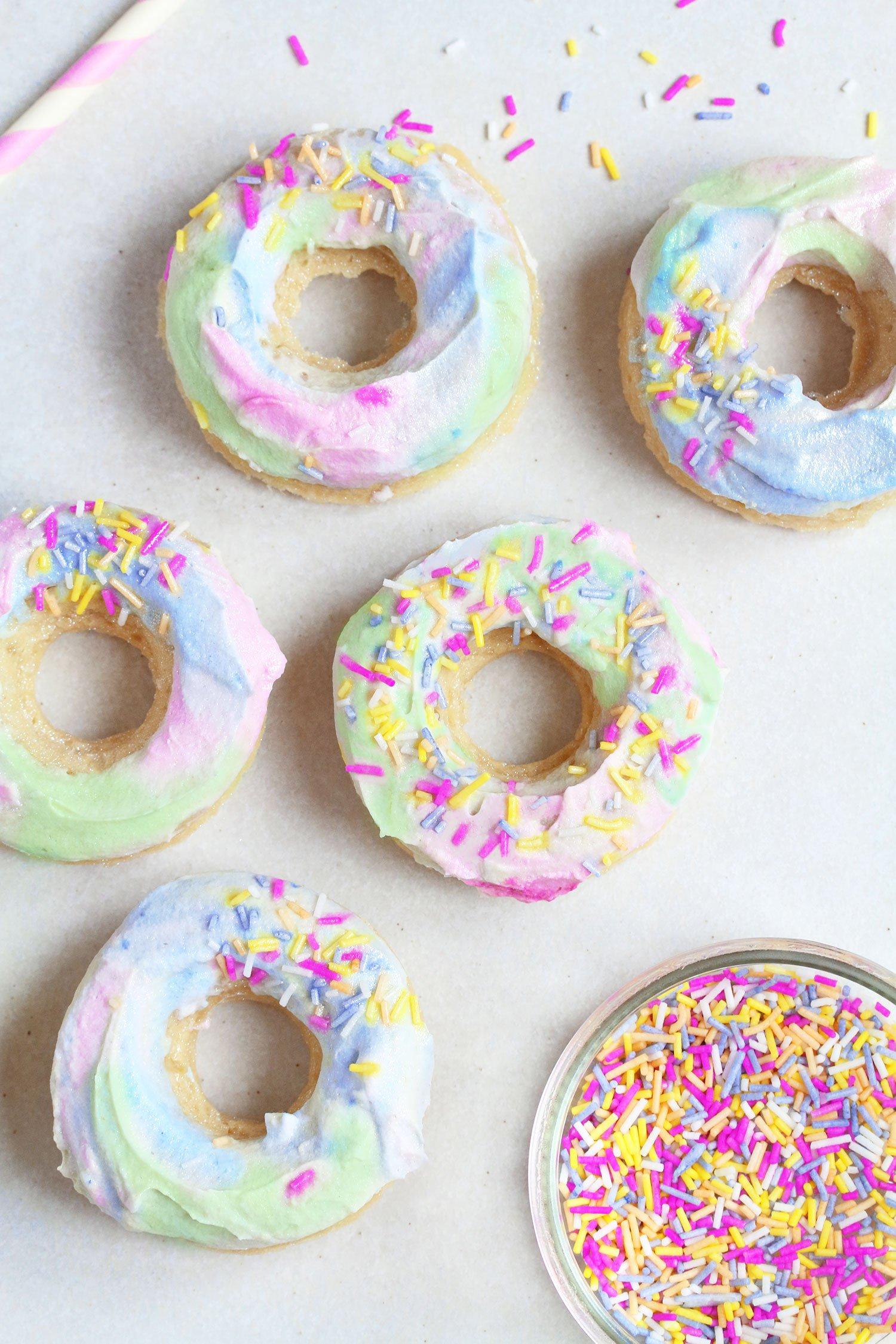Vegan gluten free unicron doughnuts