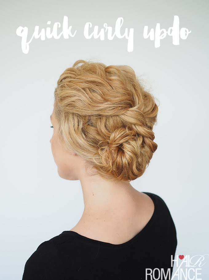 Hairdos With Curly Hair and cool hair color