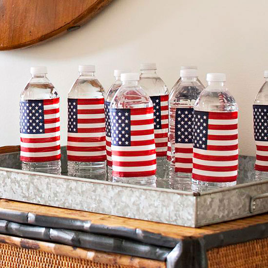 4th of july water bottle diys