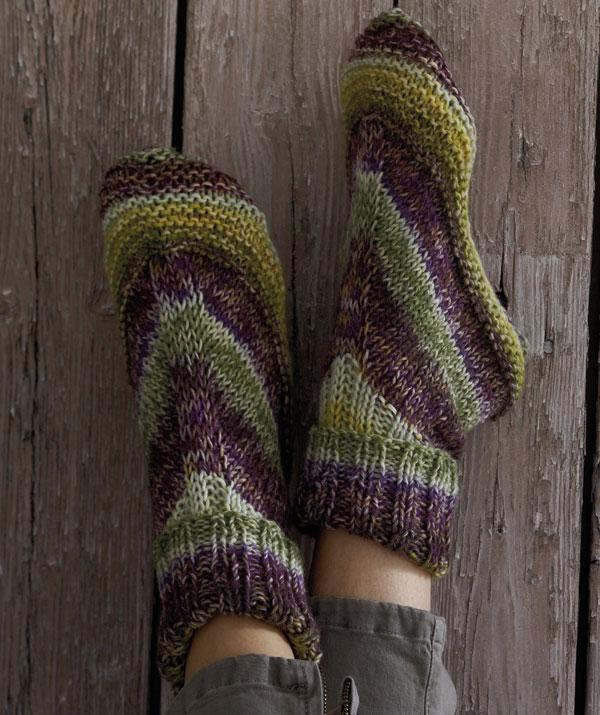 15 Knitted Slipper Sock Patterns