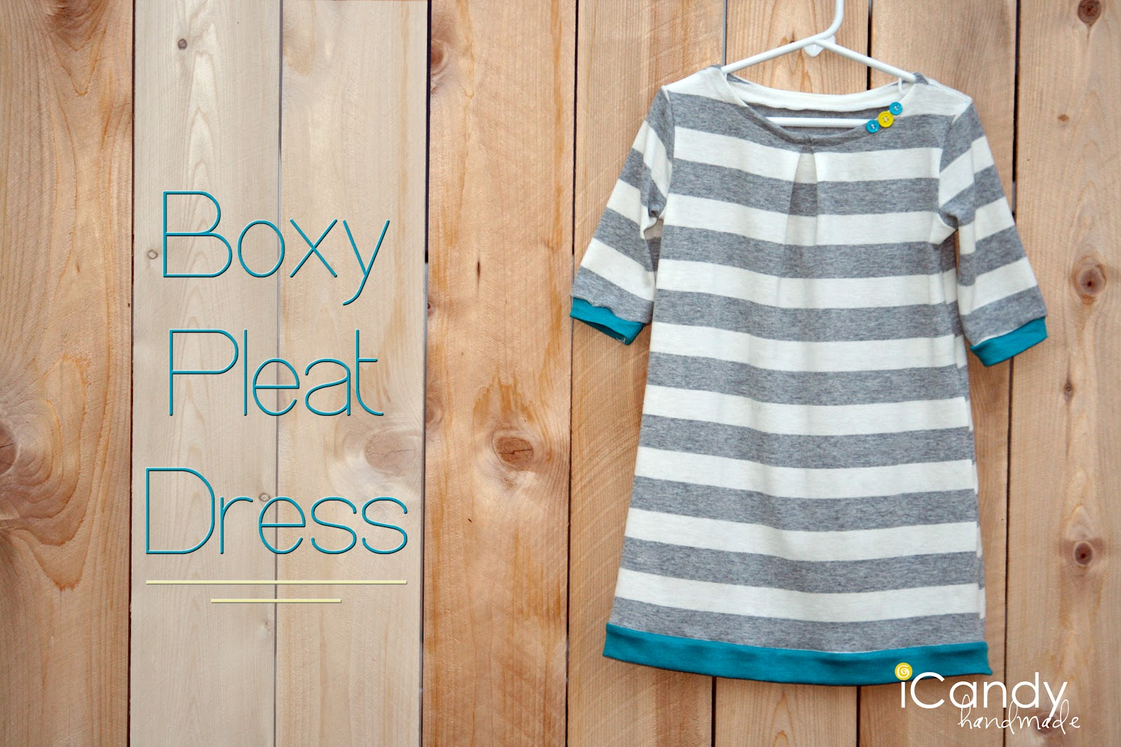 Boxy pleat dress