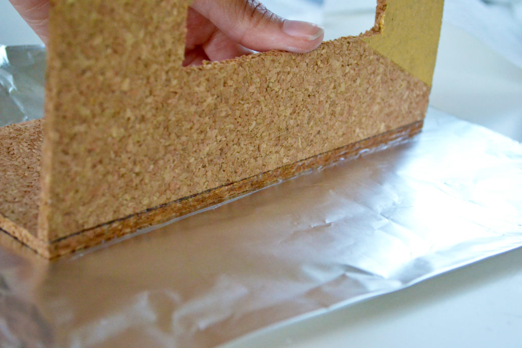 Cork tissue box cover glue