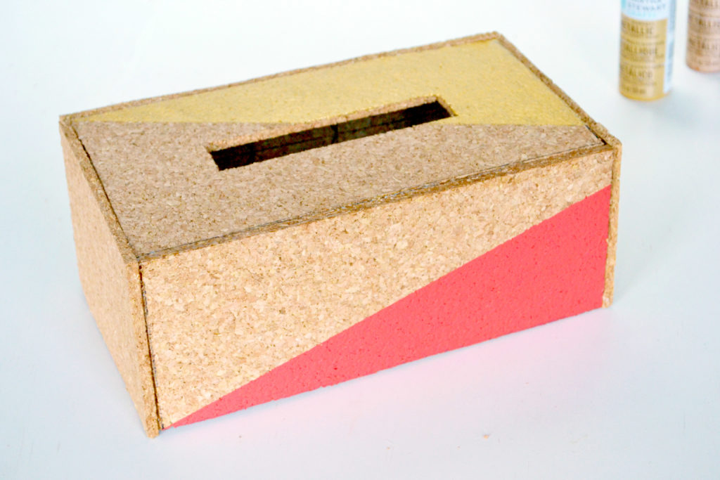 Cork tissue box cover ready to use