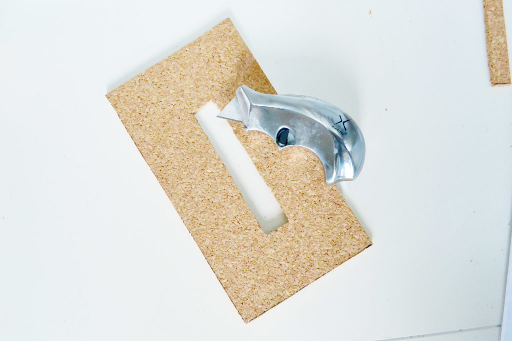 Cork tissue box cover opening for the tissue