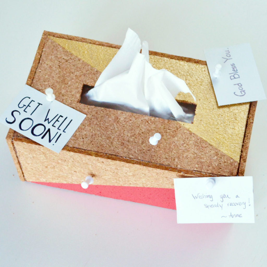 Cork tissue box cover