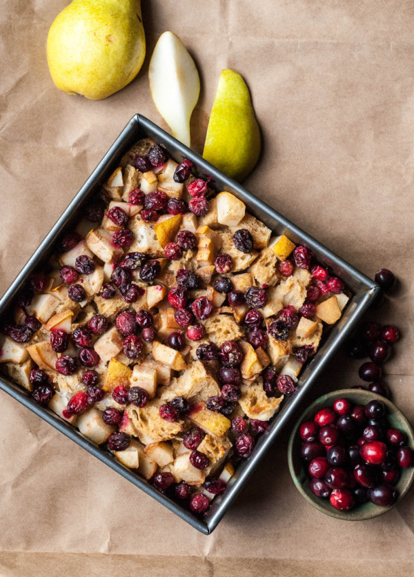Cranberry and pear french toast casserole 8