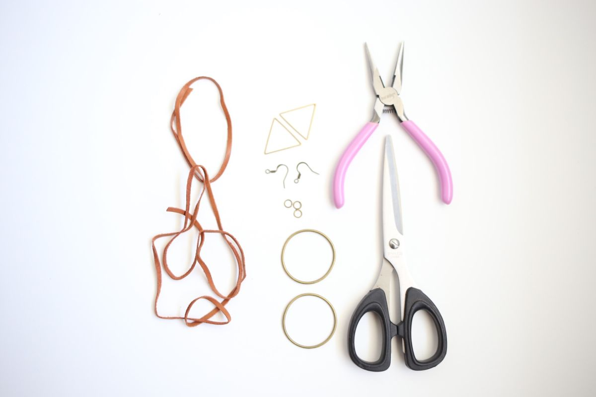 Diy boho leather earrings supplies