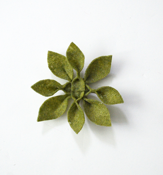 Diy felt succulent will live forever cluster