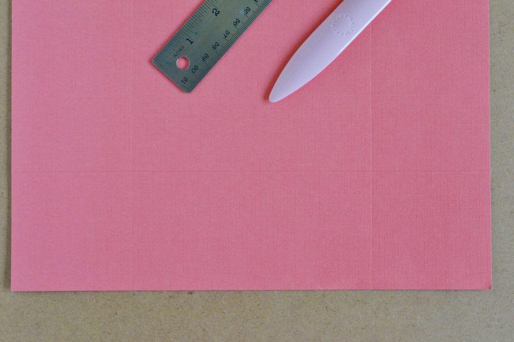 Diy scrapbook paper gift bags score a line down