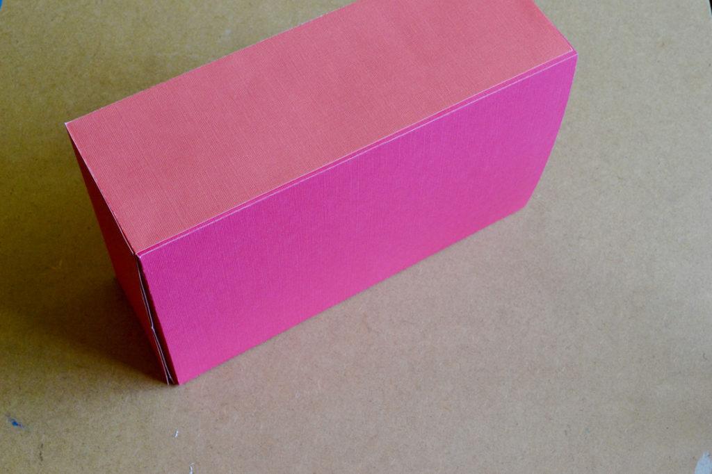 Diy scrapbook paper gift bags box style