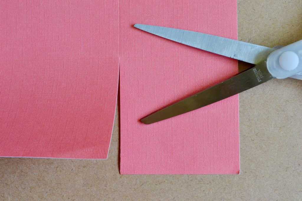 Diy scrapbook paper gift bags cut along