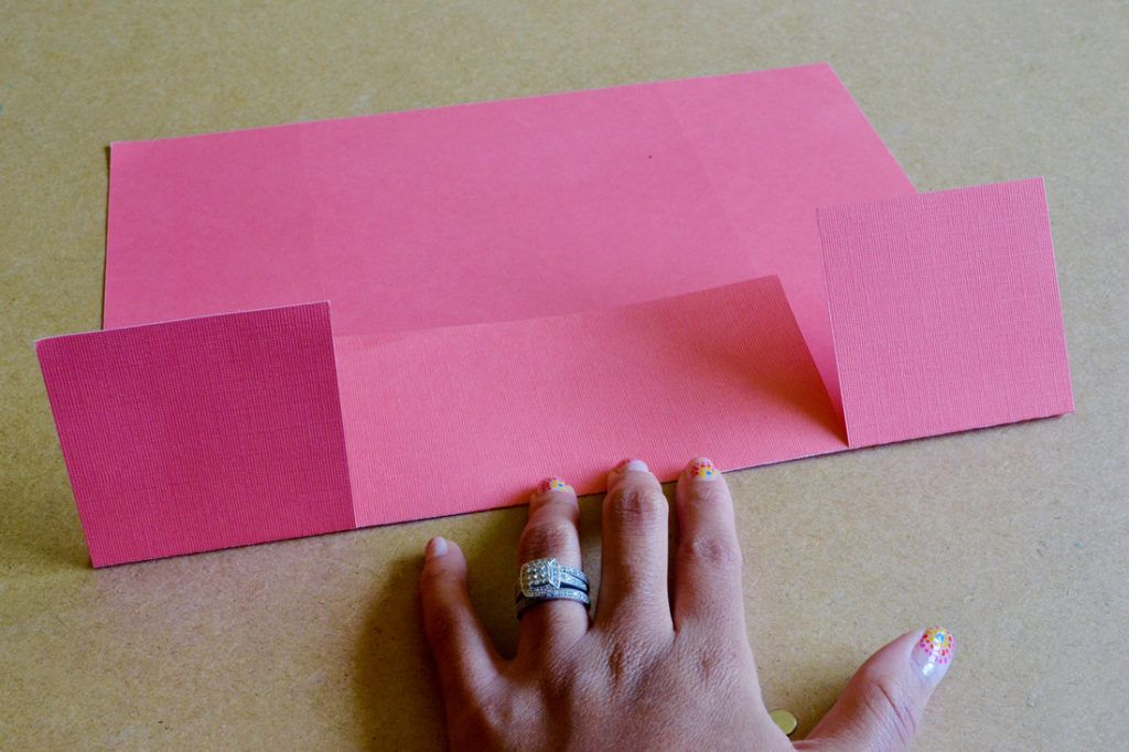 Diy scrapbook paper gift bags fold up