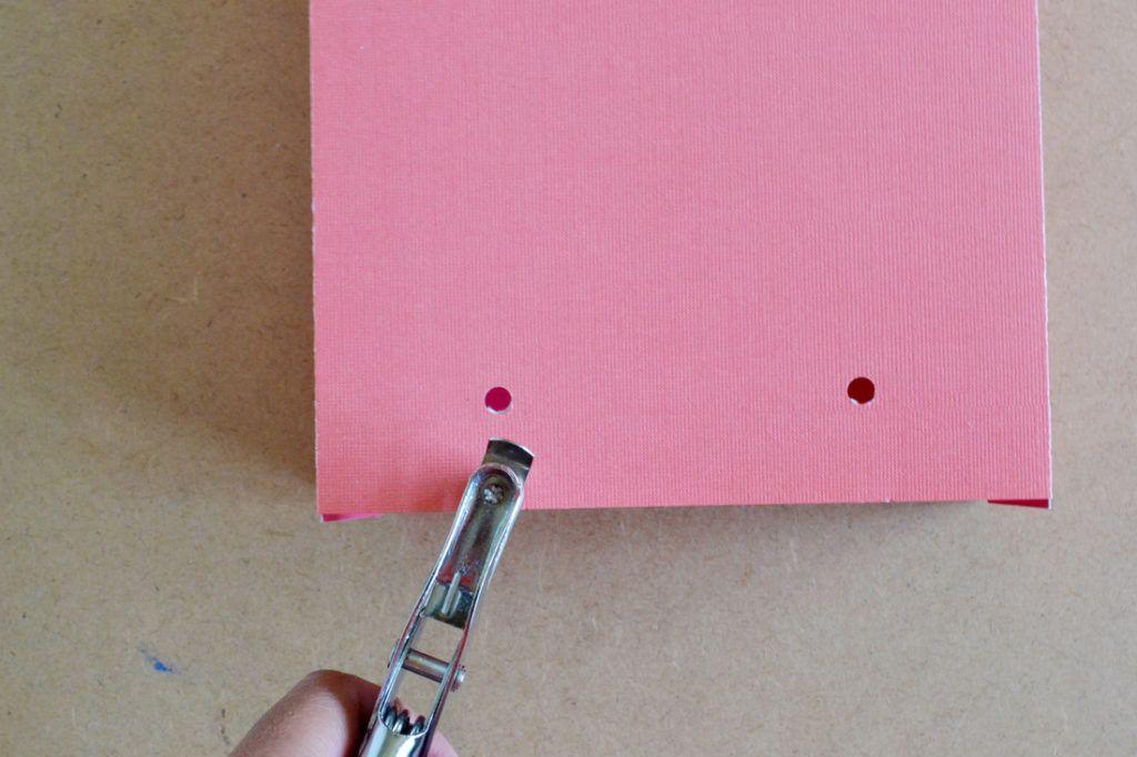 Diy scrapbook paper gift bags holes