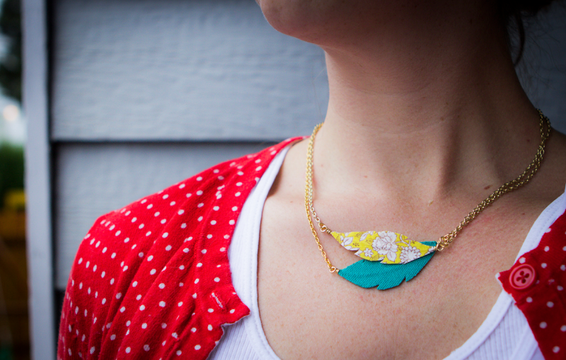 Diy praire feather necklace