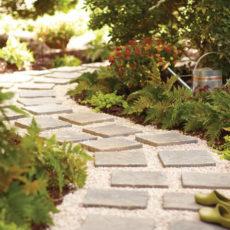 Diy stone tile pathway