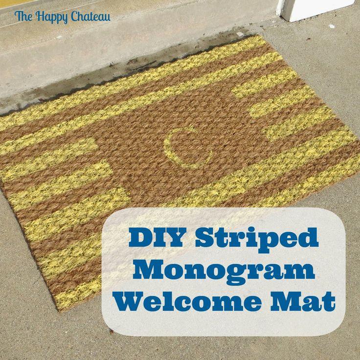 Diy striped monogram mat