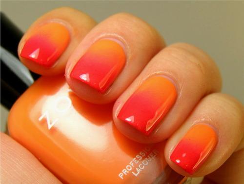 Dark to light orange ombre