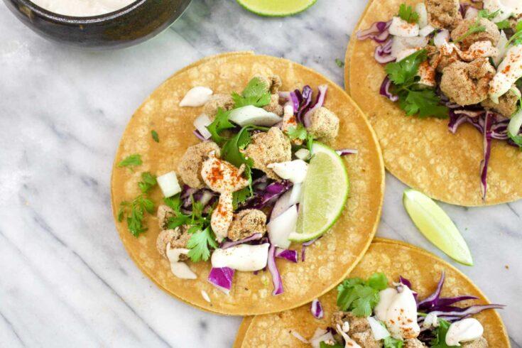 Delicious crispy cauliflower tacos
