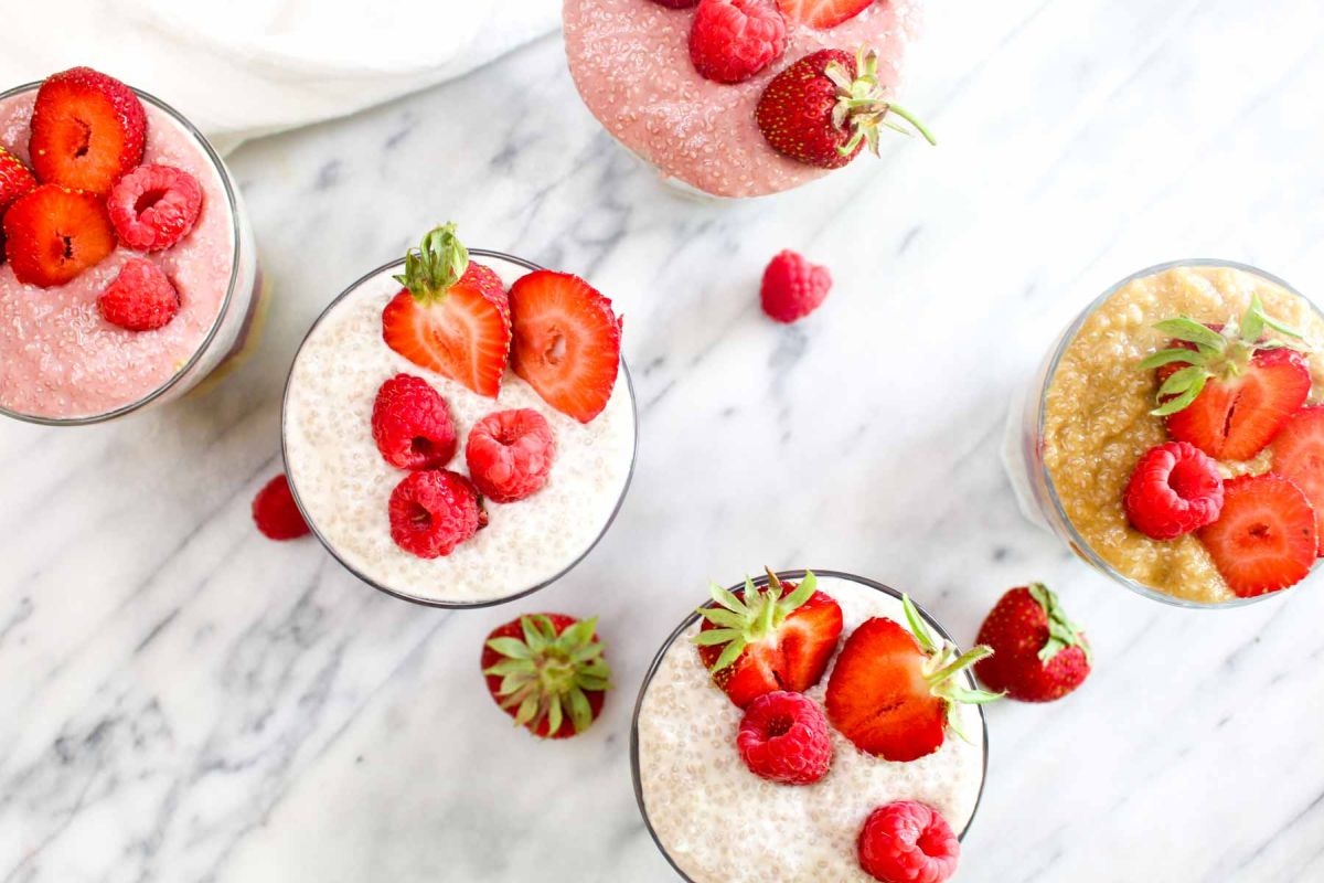 Delicious rainbow chia seed pudding