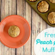 Fresh peach spice muffins
