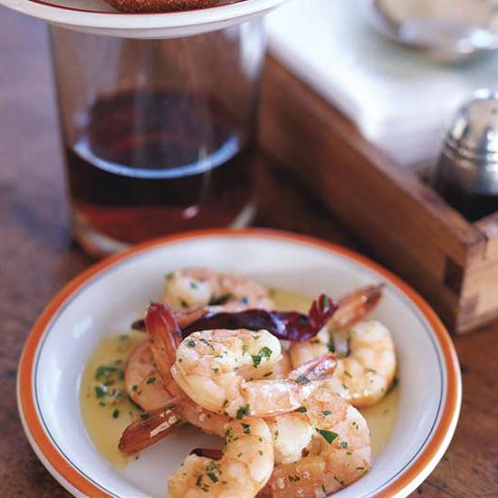 Garlick olive oil shrimp