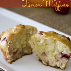 Healthy strawberry lemon muffins
