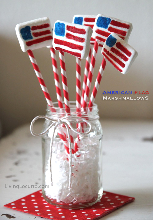Marshmallow flag treats