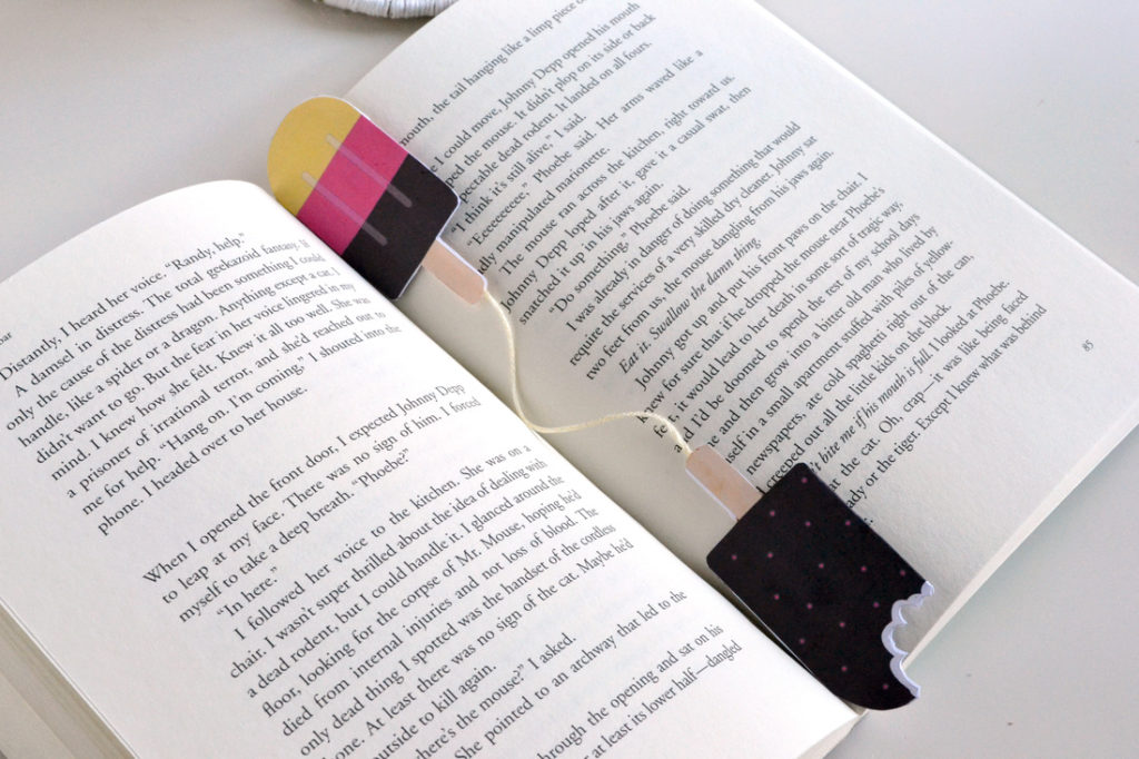 Modern scratch n' sniff bookmarks