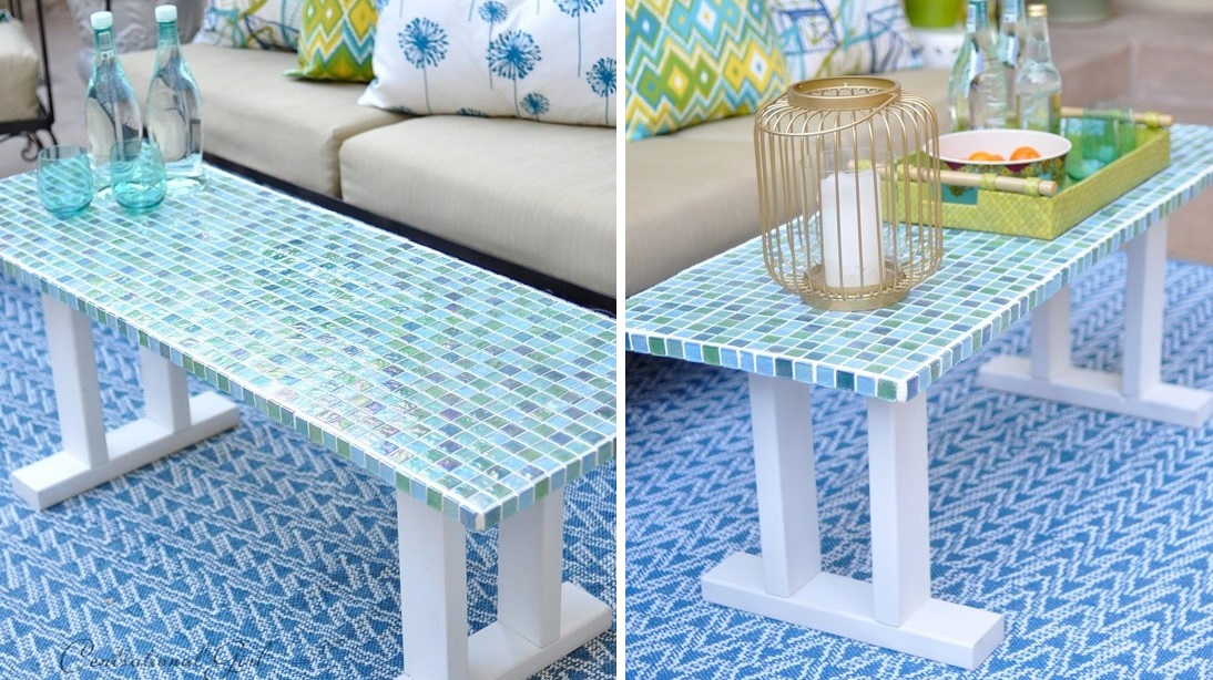 Mosaic coffee table diy
