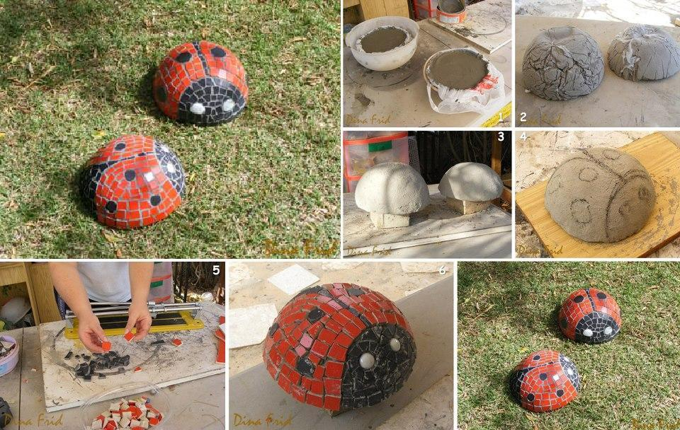 Pretty mosaic dcor projects mosaic lady bug garden sculpture solutioingenieria Gallery