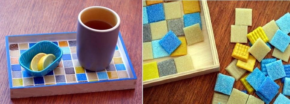 Mosaic small tray diy
