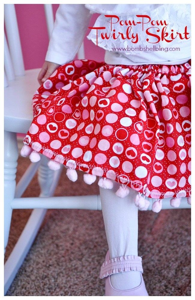 Pom pom twirly skirt