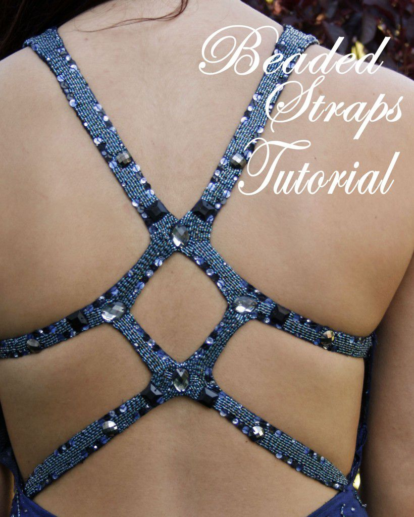 Pretty beaded straps tutorial
